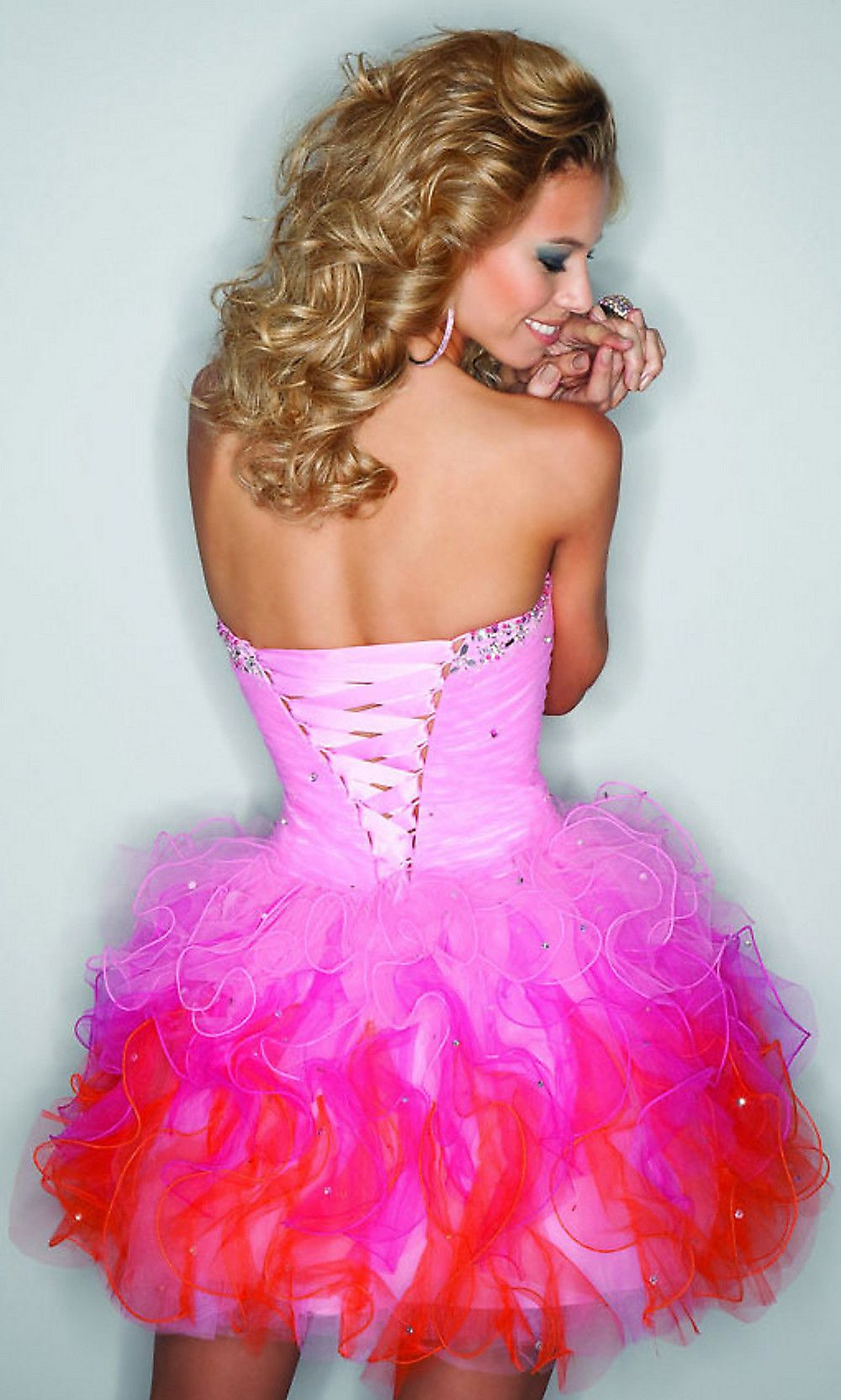 Strapless Short Party Dress by Mori Lee | Dresses | Pinterest ...