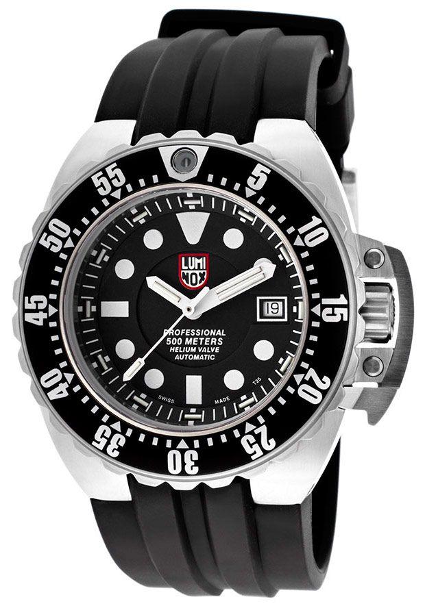 Luminox men 39 s deep dive automatic black silicone black - Luminox dive watch ...