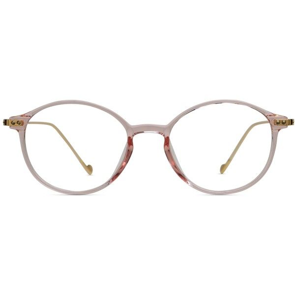 217fb81098 GlassesUSA Tulip Clear Pink w Gold (275 ILS) ❤ liked on Polyvore featuring  accessories