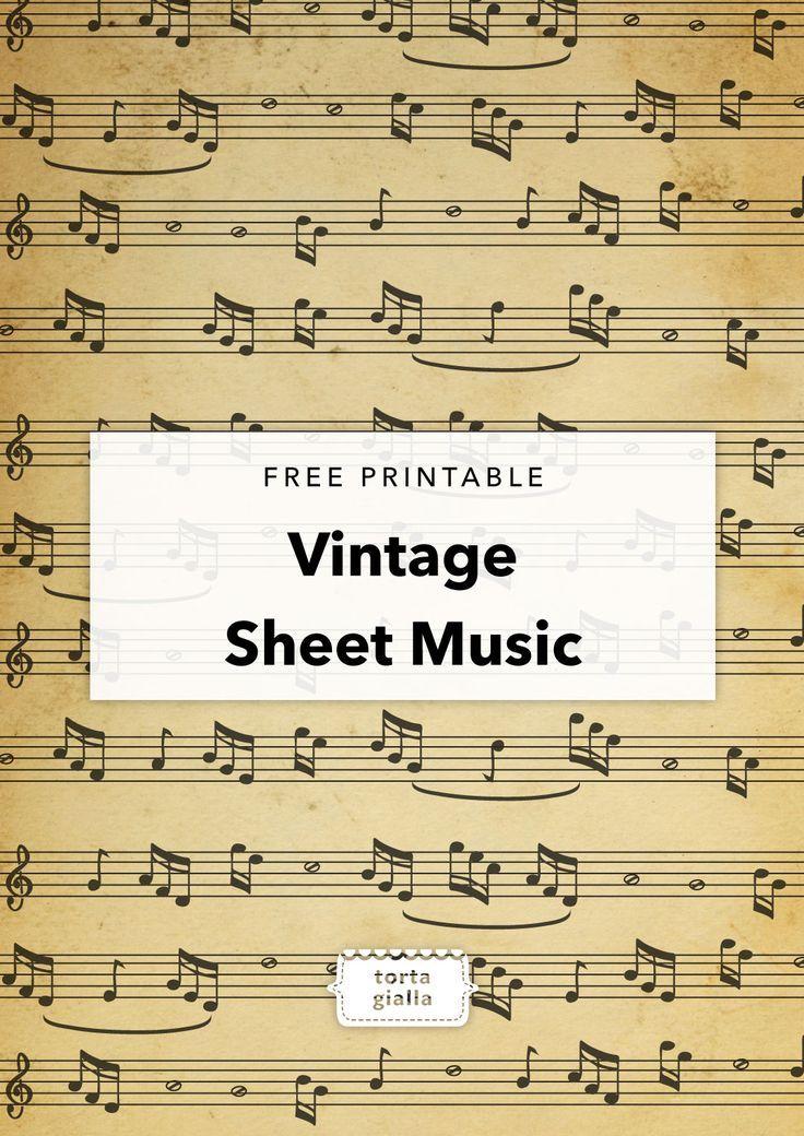Free Printable Vintage Sheet Music | tortagialla #konzertkartenverpacken