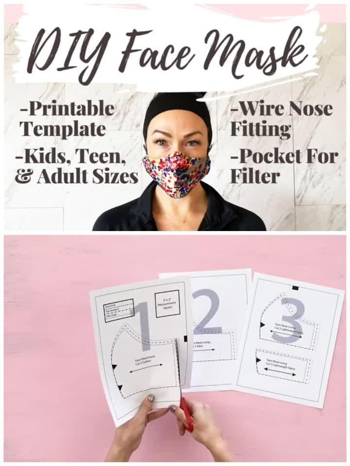 How To Make A Face Mask With HEPA Filter . A Printable Sewing Pattern - Creative