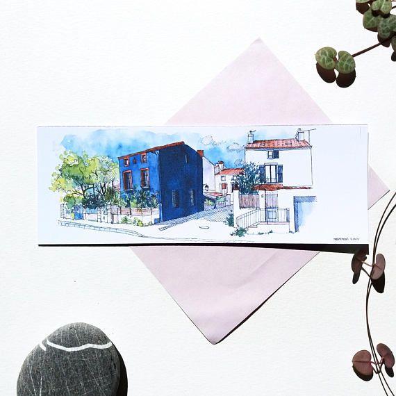 Marque Page Trentemoult Illustration Village Colore Dessin