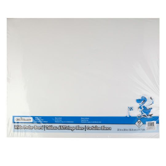 22 X 28 White Poster Board By Creatology 10ct White Poster Board School Projects Presentation
