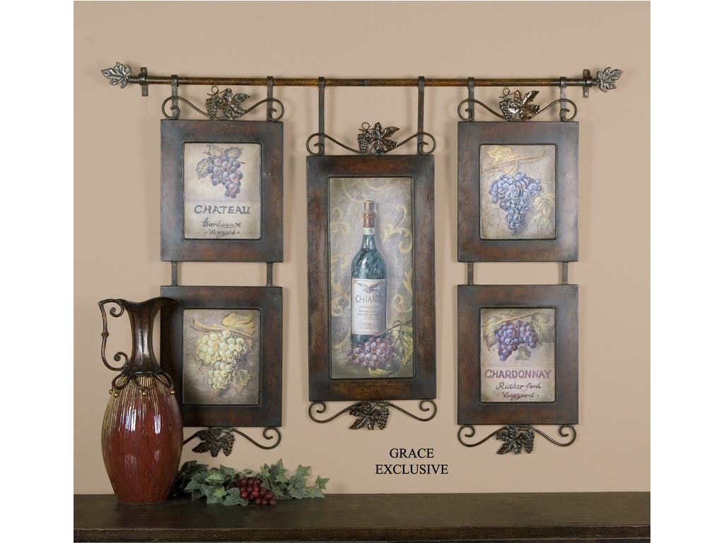 Uttermost hanging wine framed art ut from walter e smithe