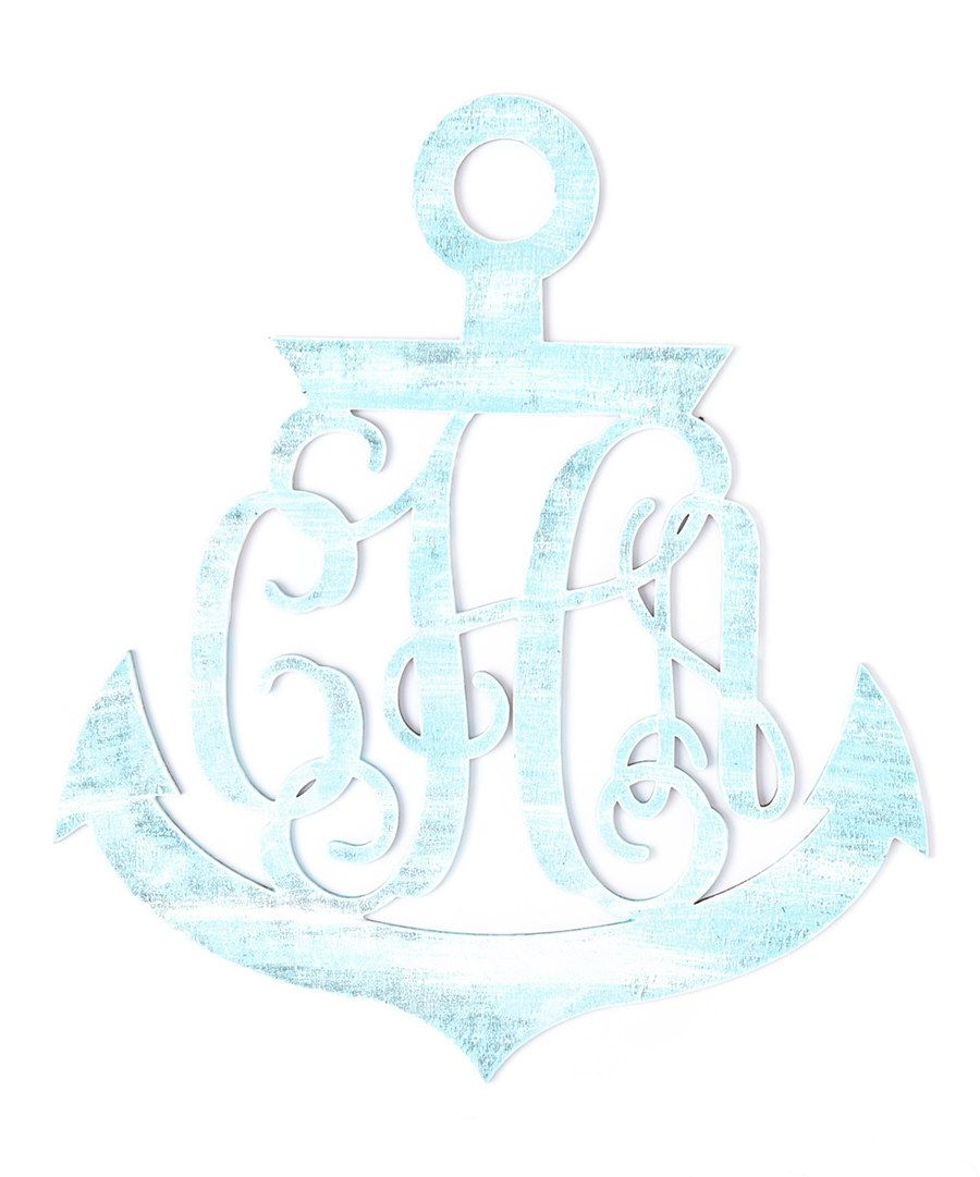 Look at this Seablue Anchor Monogram Sign on #zulily today!