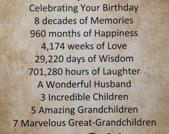 80th Birthday Gift Personalized Print 85 X 11 Idea For Mother Father Mom Dad Grandma Grandpa Wife Husband 1937 Milestone