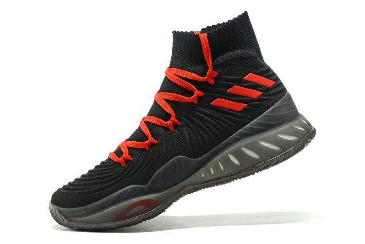 best sneakers 0b0f9 1a583 Men s adidas Crazy Explosive 2017 Primeknit Black Red Basketball Shoes   BasketballSocks