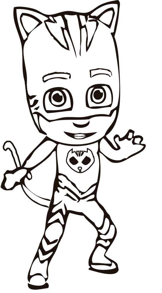 Dibujos para colorear PJ Masks - Heroes en pijamas - Dibujos ...