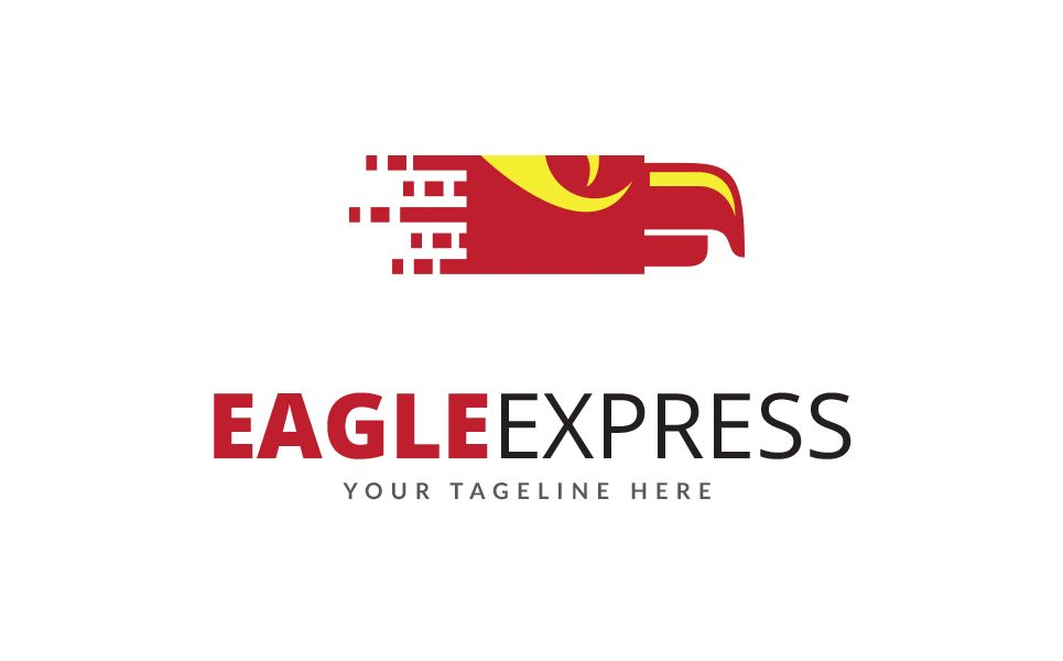 Eagle Express Logo Template 68605 Express Logo Logo Templates Logos