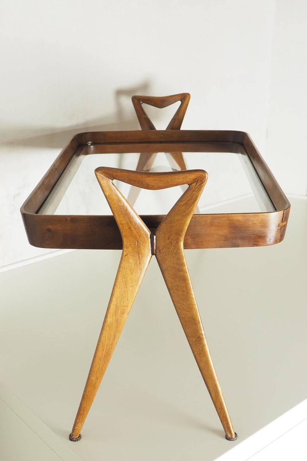 Rare original beech stained chair by eugene gaillard circa 1900 at - Ico Parisi Graceful And Rare Side Table Milan 1954