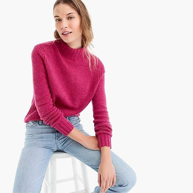36d3907a385 J.Crew Mockneck sweater in supersoft yarn