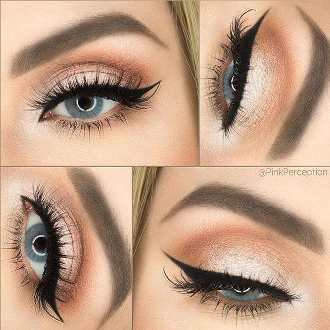 Schönes Make-up für blaue Augen. #hairmakeup