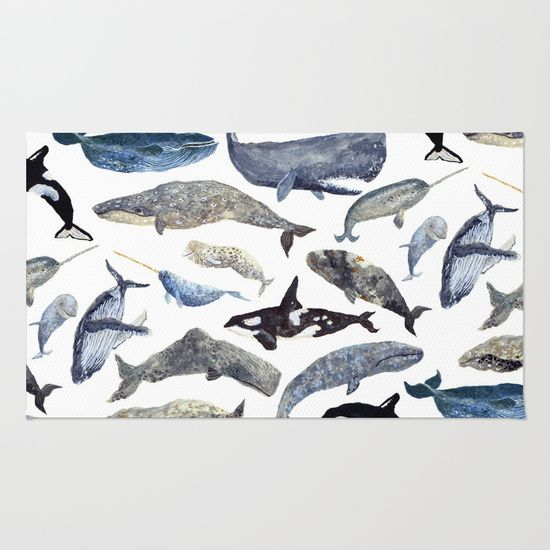 Buy Area & Throw Rugs with design featuring Whale Song by Isabelle Sykes  and adorn your home with both style and comfort. Available in three sizes (2' x 3', 3' x 5', 4' x 6').