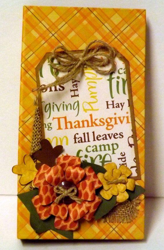 Fall themed waterfall folio mini album fall by CreationsbySweet