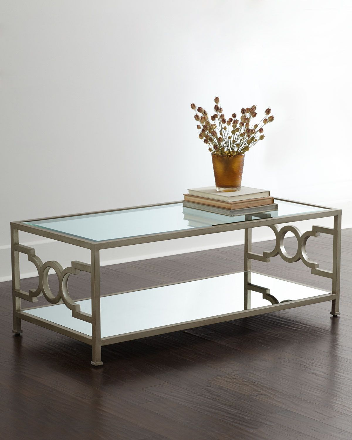 Hendrix mirrored coffee table mirrored coffee tables candice hendrix mirrored coffee table geotapseo Image collections