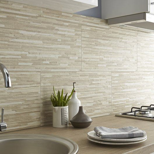 carrelage mur beige listello l 30 x l 60 cm id es pour la maison pinterest. Black Bedroom Furniture Sets. Home Design Ideas