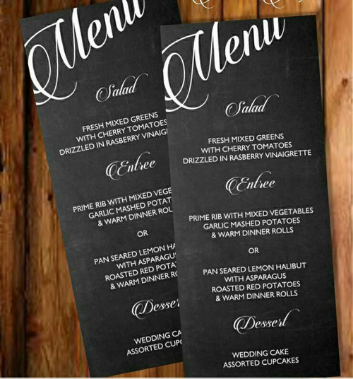 Printable Chalkboard Menu Template  Menu Templates Chalkboards
