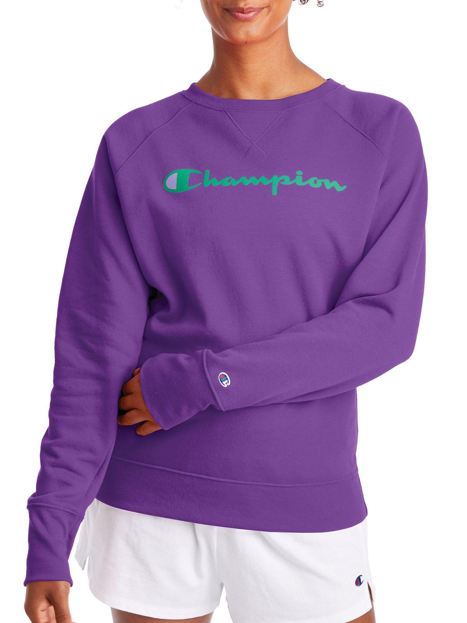 Champion Champion Women S Powerblend Graphic Fleece Boyfriend Crewneck Sweatshirt Walmart Com Sweatshirts Graphic Crewneck Sweatshirt Crew Neck Sweatshirt [ 2000 x 1500 Pixel ]