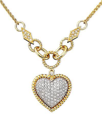 Doro by effy diamond pav diamond heart pendant 34 ct tw in doro by effy diamond pav diamond heart pendant 34 ct tw in 14k gold and 14k white gold aloadofball Image collections