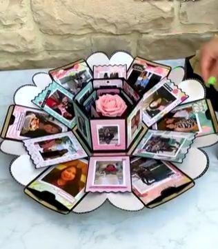 DIY Love Explosion Geschenkbox   - Zierschachtel - #Diy #Explosion #GeschenkBox #Love #Zierschachtel