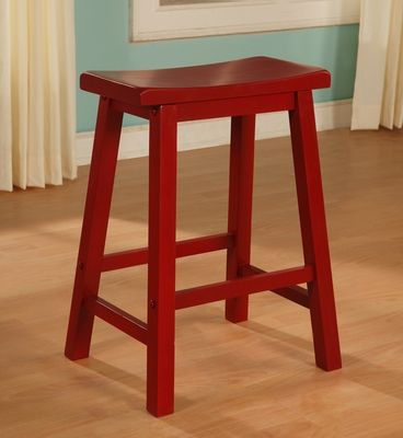 Powell Color Story Crimson Red Counter Stool Counter
