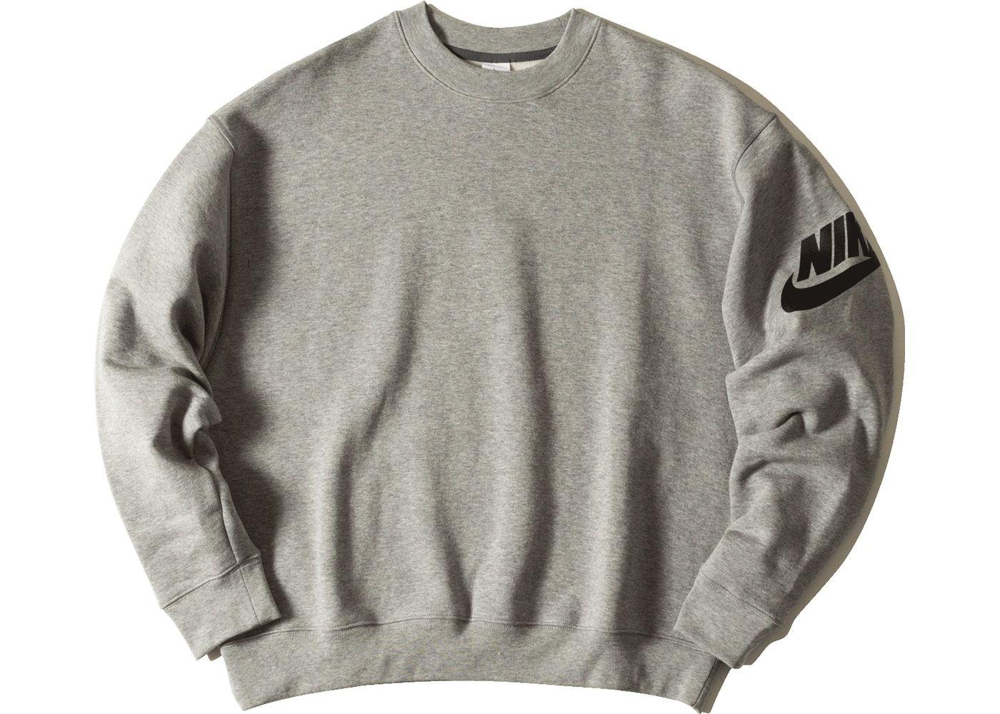 Fear Of God X Nike Nrg Ti Crewneck Dark Grey Heather Balenciaga Shirt Nike Sweatshirts Mens Outfits [ 1000 x 1400 Pixel ]