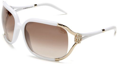 Roberto Cavalli Women\'s RC370SW Metal And Resin Sunglasses,White ...