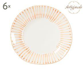 Set di 6 piatti da dessert in stoneware Orange - d 21 cm