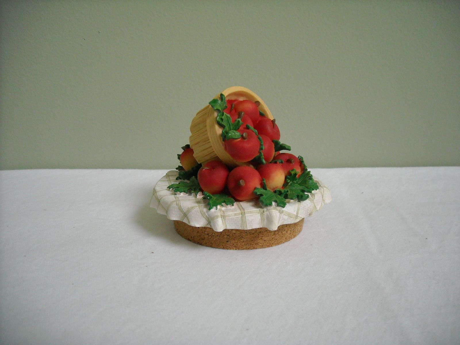 Homco Home Interiors Apple Basket Candle Jar Topper Accent Lid | eBay