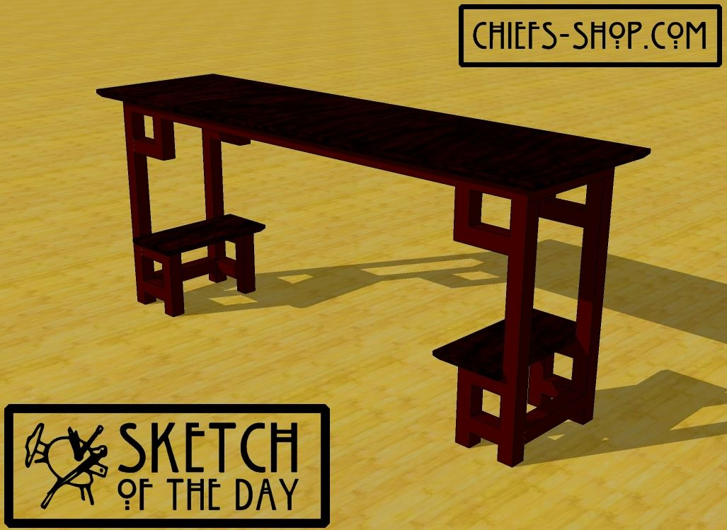 Sketch of the Day: Modern Hall Table