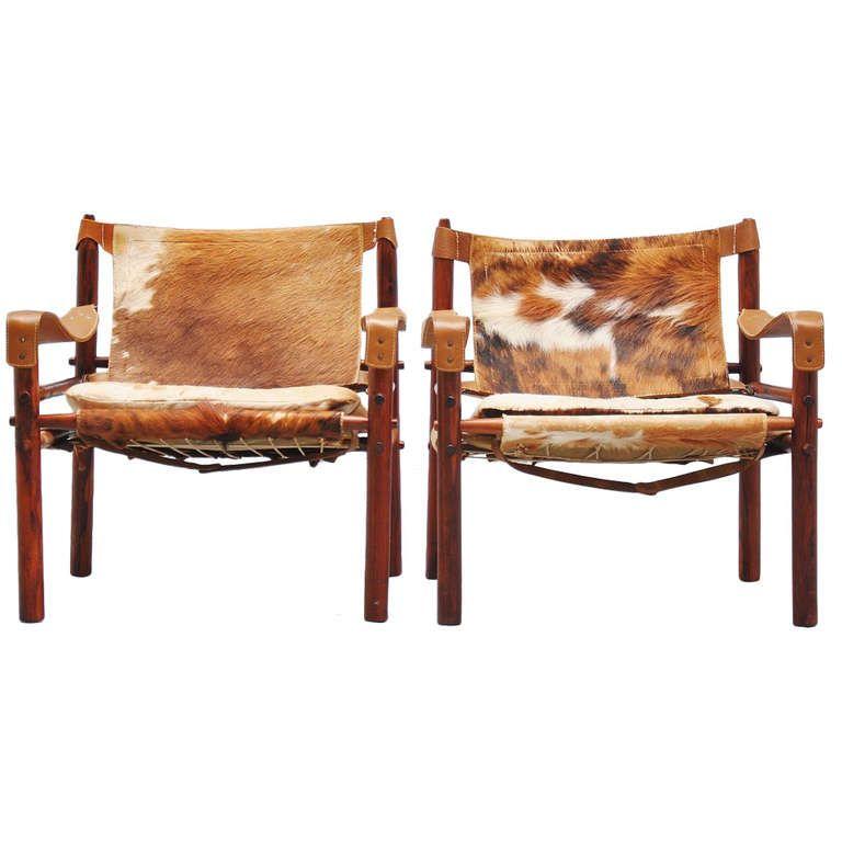 Arne Norell Safari Chairs Scanform 1960   1stdibs.com