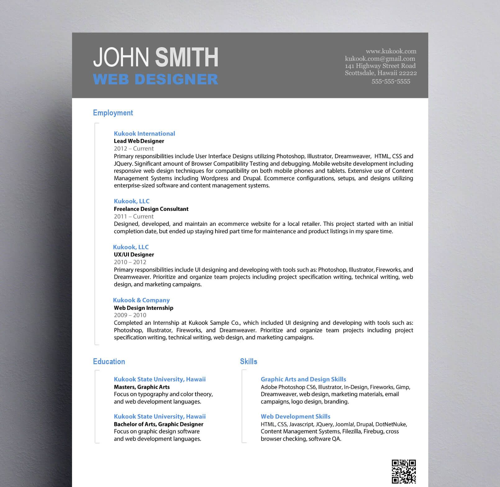 Simple Graphic Design Resume Kukook, Image result for
