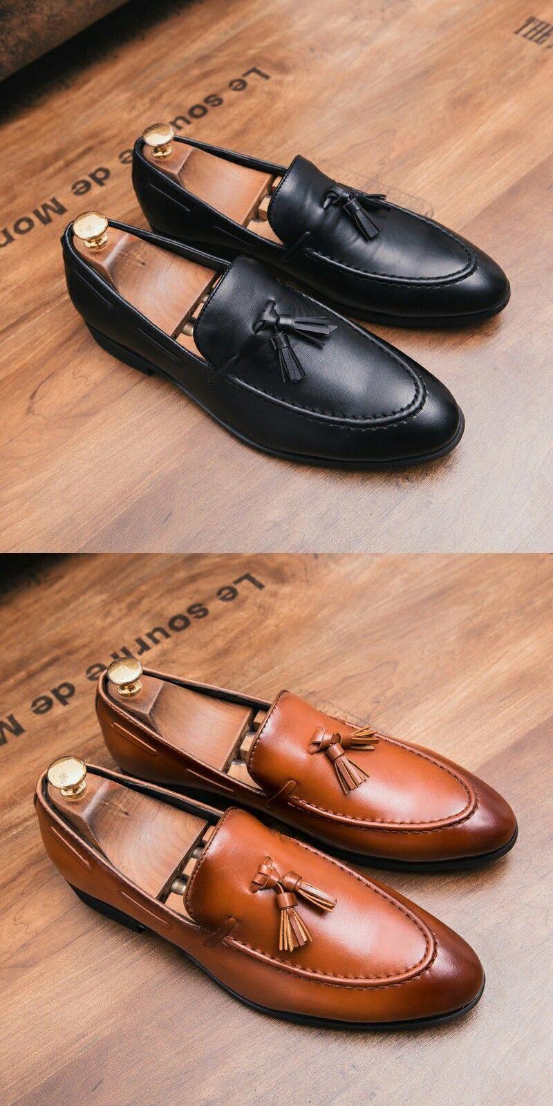 8f1e78f4f47 US  26.2  Click to buy  Prelesty New Classic Elegant Italian Men Penny  Loafer Formal Dress Wedding Shoes Luxury Style  italianweddingshoes