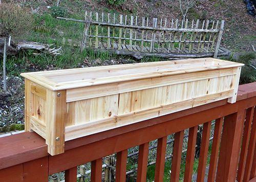 Wood Deck Planter Deck Planters Deck Railing Planters Diy Deck