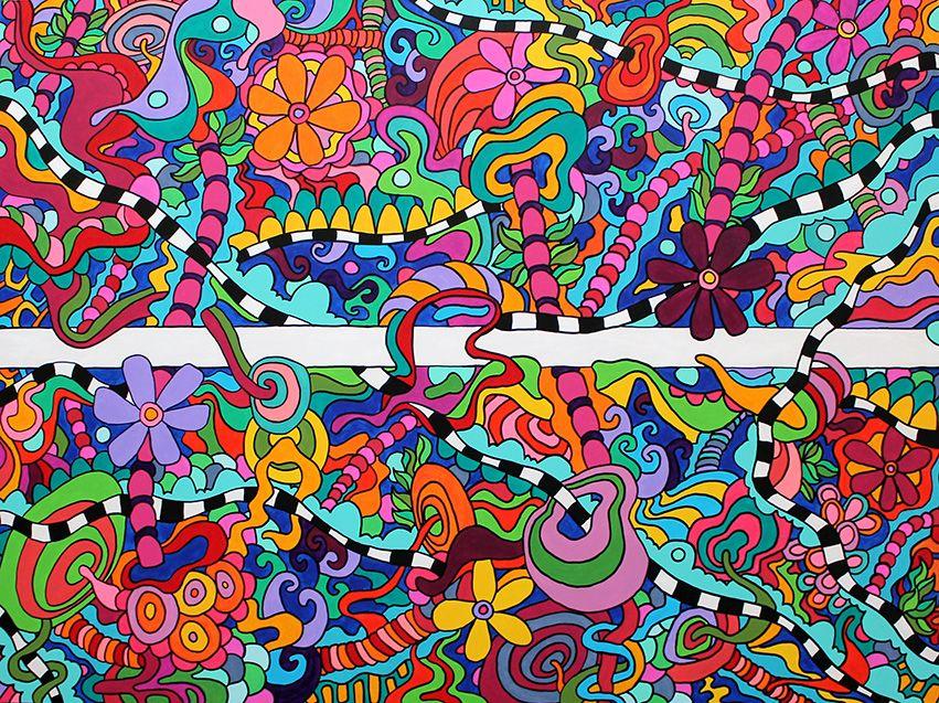 """The Path"" by Steve & Tonya acrylic on panel, 48"