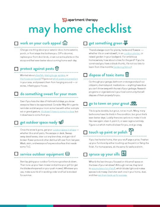 Download Your May Checklist Now Simple Tasks To Keep Your Home On