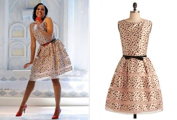 d15e4719bb5 Tia Mowry s Taylor polka dot dress seen on The Mistle-Tones on ABC Family   taylordresses  getthelook