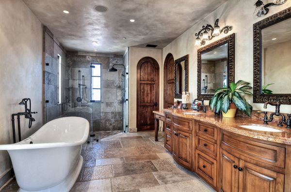 20 Awesome Mediterranean Bathroom Decors Mediterranean Bathroom