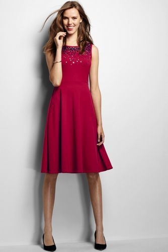 cb2ff8f9 Women's Embellished Ponte A-line Dress from Lands' End - great for Christmas