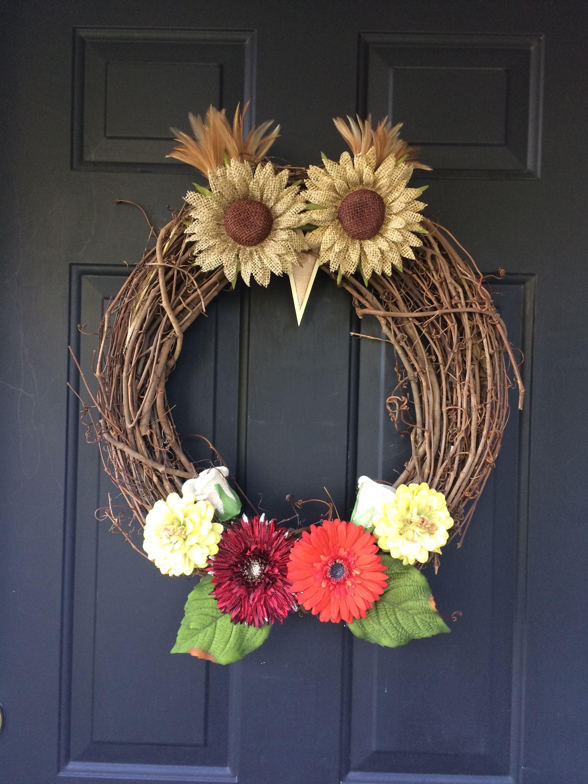 Diy Fall Season Owl Wreath Materials From Hobby Lobby Owl Wreaths Material Wreaths Owl Decor