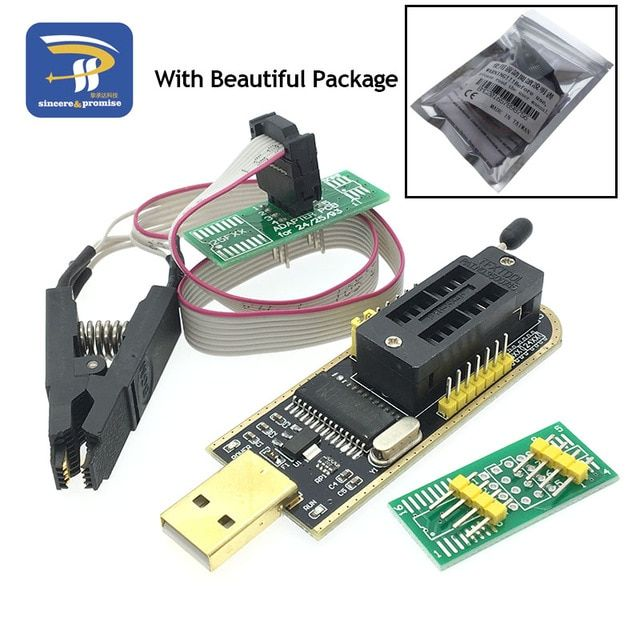 SOIC8 SOP8 Test Clip For EEPROM 93CXX / 25CXX / 24CXX adapter CH341A