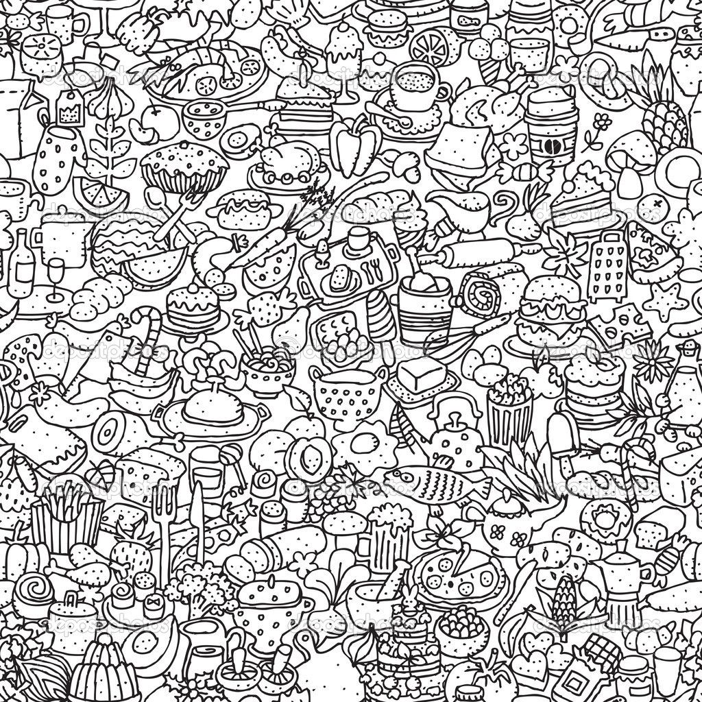 Pin by Kenzie Blue on Doodles | Food doodles, Doodle pages ...
