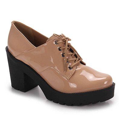 41d14e4a72 Sapato Oxford Feminino Brenda Lee - Nude