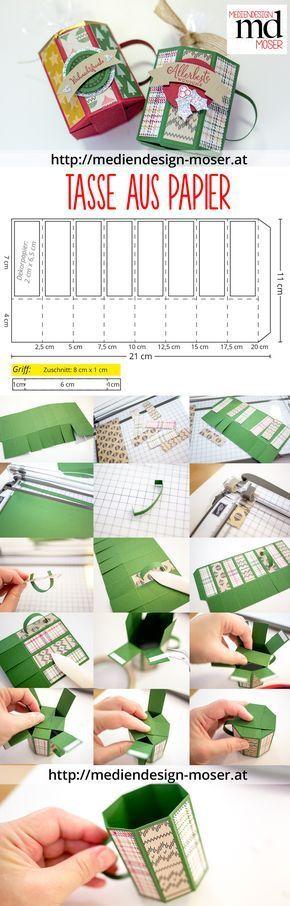 Papiertasse im Weihnachtslook | Mediendesign Moser