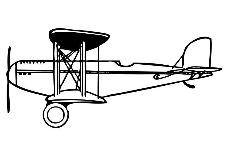 Gratis Kleurplaten Planes.Kleurplaat Dubbeldekker Cakes Clip Art Plane Airplane