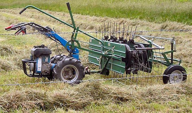 Bcs Hay Rake Homestead Farm Walk Behind Tractor Farm Tools