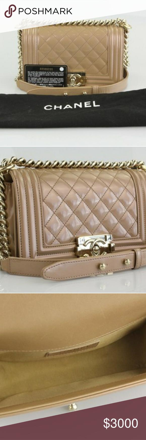 261e28f76eb1 Le boy Chanel Small Boy Shoulder Bag Nude Patent leather 21