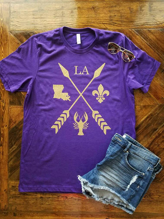 c87ec658b5ab Louisiana Arrow Shirt / Louisiana Pride / LSU / LSU Football ...