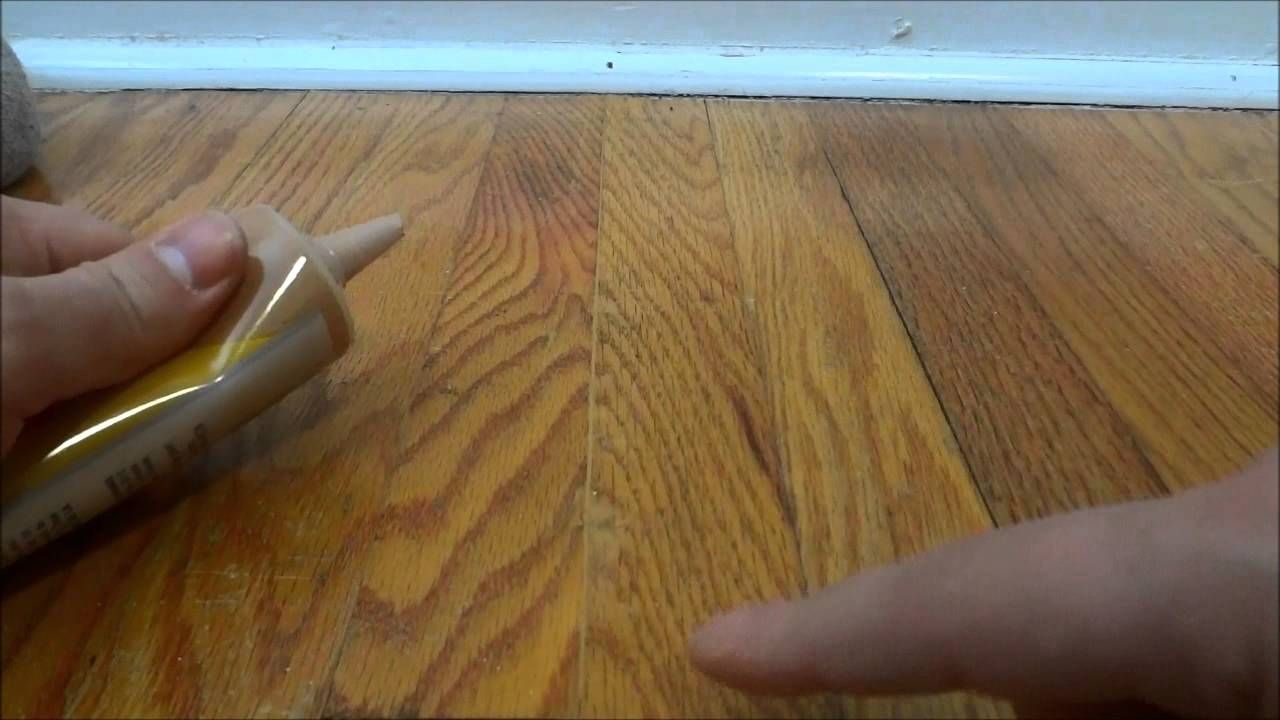 If your hardwood floors have cracks, this video will show
