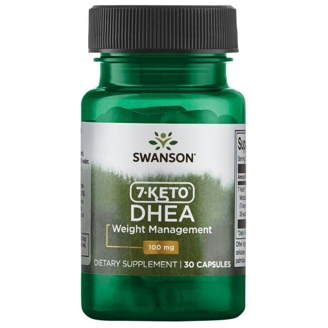 Swanson Best Weight-Control Formulas 7-Keto Dhea | 100 mg | 30 Caps | Weight Loss